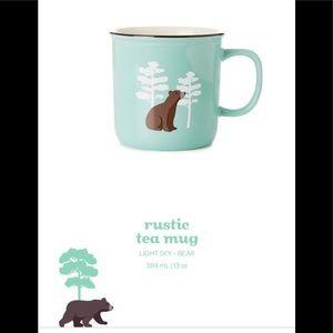 David's tea rustic tea mug light sky bear